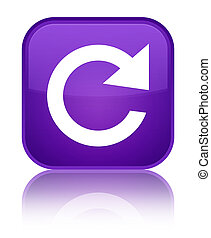 Reply rotate icon special purple square button