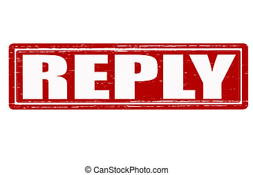 Reply - Stamp with word reply inside, vector illustration