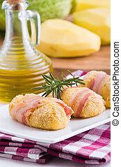 repolho, savoy, croquettes., batata