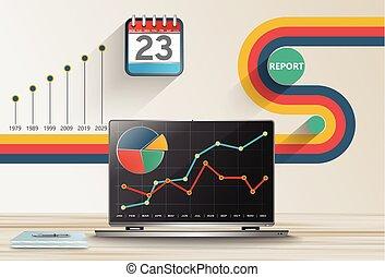 Report business statistics concept