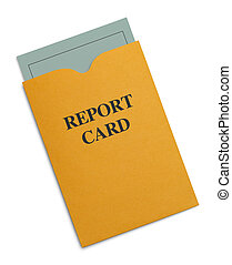 Report Card - New Green Report Card Inside Yellow Envelope...