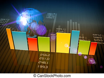 Report charts - Business charts and graphs as concept