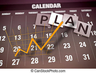 Report charts concept - Business planning and charts as...