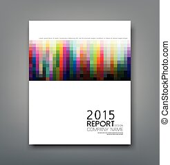 Cover report colorful square pattern design background, vector illustration
