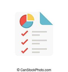 report flat icon