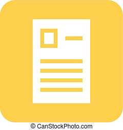 Report - Forms, report, questionaire icon vector image. Can ...