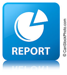 Report (graph icon) cyan blue square button