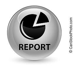 Report (graph icon) glassy white round button
