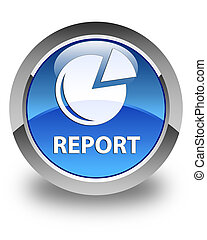 Report (graph icon) glossy blue round button