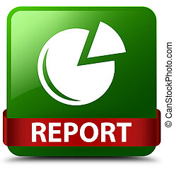 Report (graph icon) green square button red ribbon in middle