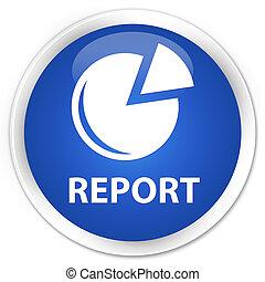 Report (graph icon) premium blue round button