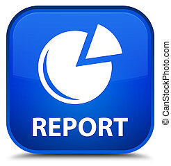 Report (graph icon) special blue square button