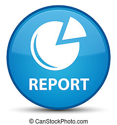 Report (graph icon) special cyan blue round button