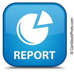 Report (graph icon) special cyan blue square button