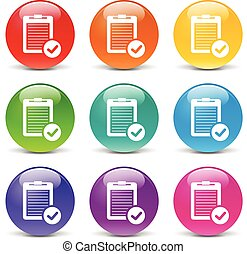 report icons - collection of icons of different colors for...