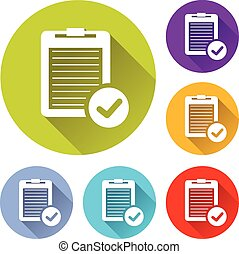 report icons - vector illustration of six colorful report...