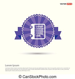 Report List Icon - Purple Ribbon banner
