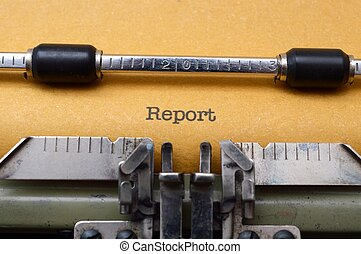 Report on typewriter