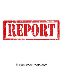 Report-stamp - Grunge rubber stamp with text Report,vector...