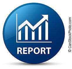 Report (statistics icon) blue round button