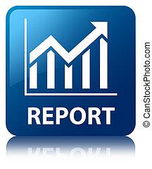 Report (statistics icon) blue square button