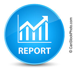 Report (statistics icon) elegant cyan blue round button