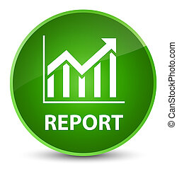 Report (statistics icon) elegant green round button