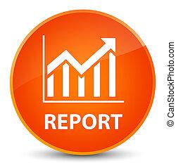 Report (statistics icon) elegant orange round button