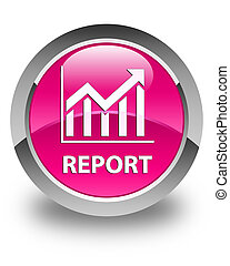 Report (statistics icon) glossy pink round button