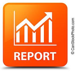 Report (statistics icon) orange square button