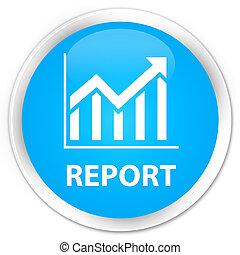 Report (statistics icon) premium cyan blue round button