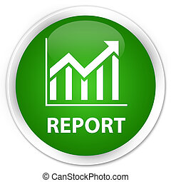 Report (statistics icon) premium green round button