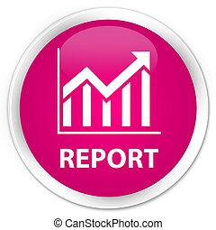 Report (statistics icon) premium pink round button