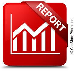 Report (statistics icon) red square button red ribbon in corner