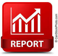 Report (statistics icon) red square button red ribbon in middle