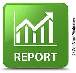 Report (statistics icon) soft green square button