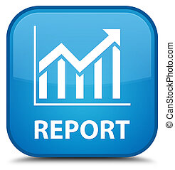 Report (statistics icon) special cyan blue square button