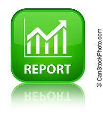 Report (statistics icon) special green square button