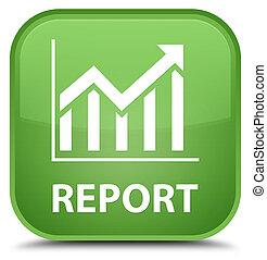 Report (statistics icon) special soft green square button
