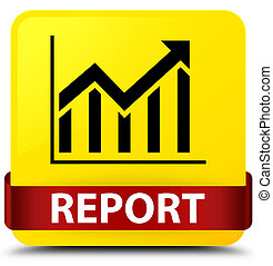 Report (statistics icon) yellow square button red ribbon in middle
