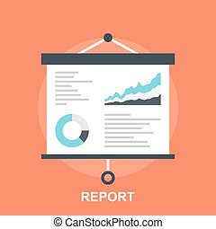 Report - Vector illustration of report flat design concept.