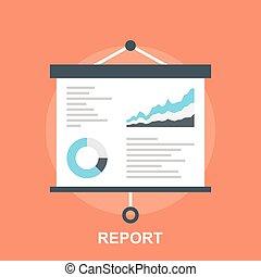 Report - Vector illustration of report flat design concept.