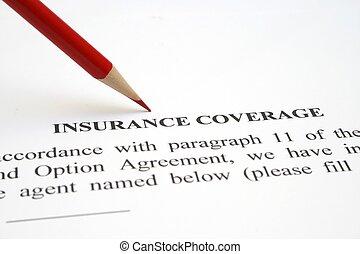 reportage, assurance, formulaire