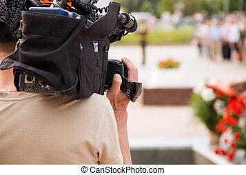 reportage, fernsehapparat
