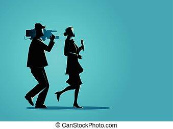 Reporter and Cameraman