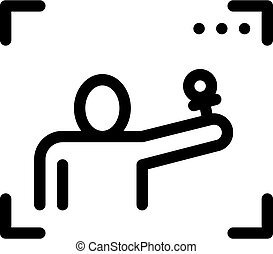 Reporter Cadre Icon Vector. Outline Reporter Cadre Sign. Isolated Contour Symbol Illustration