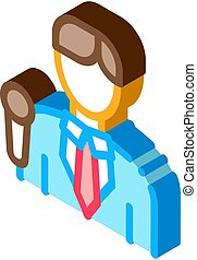 Reporter Cadre Icon Vector. Isometric Reporter Cadre isometric sign. color isolated symbol illustration