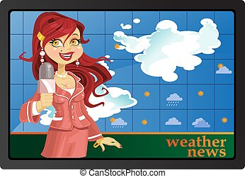 Reporter gir tell weather news