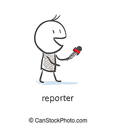 reporter, interview