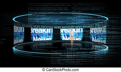 Reporter reporting the business new